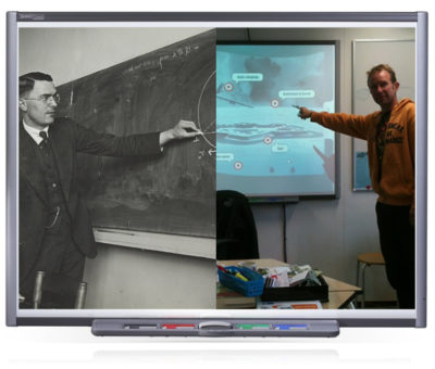 Lesgeven met een schoolbord: toen en nu